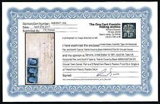 CKStamps: US Stamps Collection Scott#6, #8A Pair Used on Cover with Cert $17000