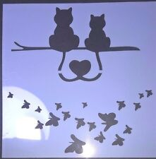 Cat Butterfly Stencil Scrapbooking Card Making Airbrush Painting Home Decor Art
