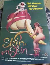 XXX Skin on Skin Campaign Manual 1970s 80s Porn Sleeze Poster Ad