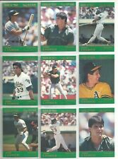 Rickey Henderson 1991 Star Company Oakland A/'s 9-card Platinum BB Set  #//1000
