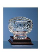 Personalised Rose Bowl 24% Lead Crystal Fan Lattice Cut Bowl (Diameter 11 cm)