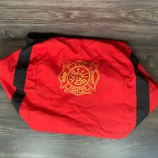 American Firewear Firefighter Gear Turn Out Bag Red Large Duffle Travel