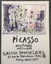 PABLO PICASSO, Vintage,Poster,1957 Offset Lithograph, Comedie Humane