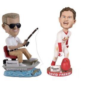 David Freese World Series MVP/ Whitey Herzog Bobbleheads St. Louis Cardinals SGA