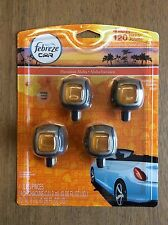 FEBREZE Car Vent Clips -4 PK- Air Freshener Eliminate Odor SCENT: Hawaiian Aloha