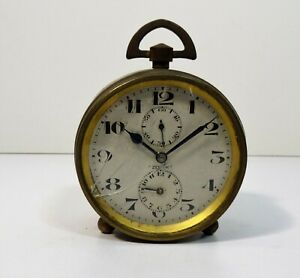 Zenith Watch Company - Table Clock Alarm Mechanical Movement 2 Days - Art Deco