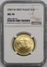 2003-W First Flight $10 NGC MS 70 Gold Modern Commemorative