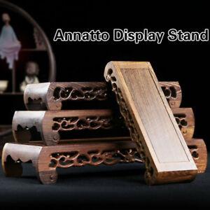 Annatto Display Stand Wood Carving Pedestal Rectangle Buddha Craft Vase Base