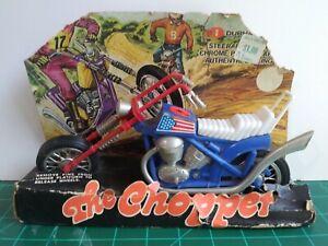Vintage Plastic Motorcycle The Chopper Toy Durham 1970s Rare HTF #9001 w/ Box