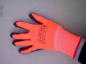 24 Pairs Latex coated polyester shell Work Gloves with grip palm. size 10 XL