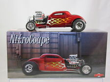 GMP 1934 Blown Altered Nitro Coupe Metallic Red/Flames G18816