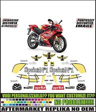 kit adesivi stickers compatibili rs 125 rep. spains n1 2008 lorenzo