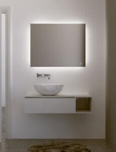 Specchio Bagno Retroilluminato LED con accensione TOUCH cm70X90