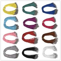 10Pcs Suede Leather Cord DIY Necklace Rope For Jewelry Making Length 45+5cm