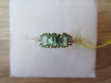 Green Kyanite, Tanzanite, & White Topaz Ring Platinum Over Sterling Sz 6,7,8 Opt