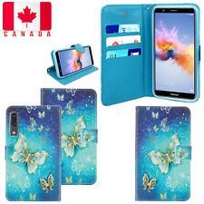 For Huawei P20 Luxury Card Pocket Magnetic PU Leather Wallet Flip Case Cover