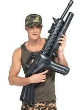 Inflatable Machine Gun Army Soldier Fancy Dress Costume Accessory Toy Rifle