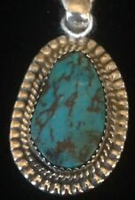 Rare Pendant; handmade with Arizona Bisbee Turquoise and sterling silver