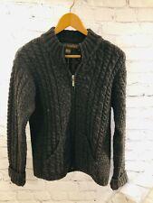 Irish  Inis Crafts !00% wool size medium zip Aran jumper