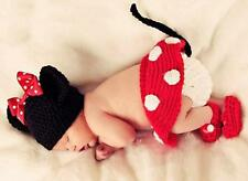 Newborn Girls Baby Clothes Minnie Mickey Mouse Crochet Knit  Photo Prop Outfit