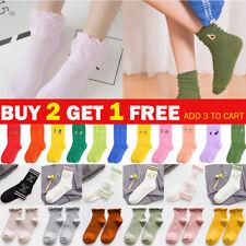 Women Ladies Cotton Lace Ankle Socks Ruffle Soft Casual Novelty Design Socks