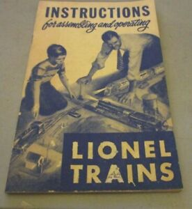 INSTRUCTIONS FOR ASSEMBLING AND OPERATING LIONEL TRAINS CREASES VG CONDITION