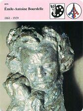 FICHE Antoine Bourdelle sculpteur Buste de Beethoven Musée Le Havre FRANCE 80s