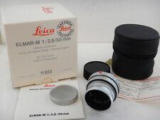 Leica Elmar-M 50mm f2.8 Silver + BOX MINT Soft Case 11823 Excellent Condition