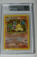 Pokémon Base Unlimited Portuguese Charizard 4/102 - Vintage Graded BGS 8.5 NM-MT
