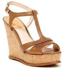 Vince Camuto INSLO Copper T-strap Wedge Cork Heel Size 10 New