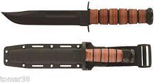 KA-BAR #5017 U.S.M.C. STRAIGHT EDGE FIGHTING UTILITY KNIFE w/ HARD SHELL SHEATH
