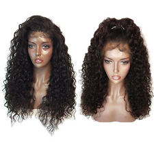 Ladies Sexy Long Brown Lace Front Natural Curly Hair Heat Resistant Full Wigs