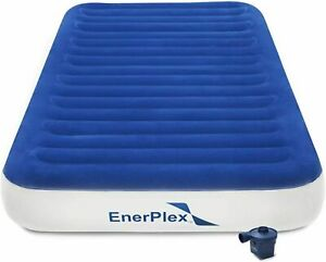 EnerPlex Twin Air Bed with Pump No Outlet Needed Home Camping Travel  76x39x9