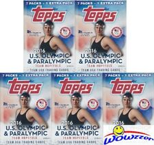 (5) 2016 Topps US Olympics Factory Sealed Blaster Boxes with TEAM USA Superstars