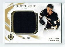 10-11 UD Ultimate Debut Threads  Cam Fowler  /200  Jersey  Rookie
