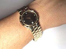 NOS 1990s Belair Genuine Diamond Men's Gold-tone Quartz Watch Ref. A560