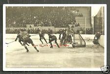 1936 Olympic Winter Games rppc Ice Hockey Czechoslovakia