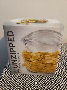 Fred Unzipped Glass Shaped Zipper Bag Candy Dish Fish Bowl