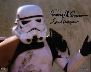 Star Wars Topps Terry McGovern Sand Trooper A New Hope Signed 8 x 10 Photo