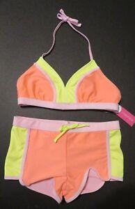 Girls' Colorblock Bikini Xhilaration- Coral