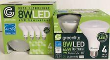 Greenlite LED BR30 Bulb 8W Floodlight Dimmable 3000K Brightness 2 4 Packs =8bulb