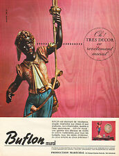 Publicité Advertising 1965  Buflon mural revetement mural décoration