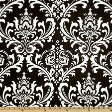 "WHITE ON BLACK  DAMASK TABLE SQUARE 20"" LINEN BRIDAL"