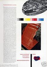Farbenfabrik Kast Ehinger Feuerbach XL Reklame 1956 Farbenfabrik Werbung ad