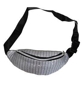 Gürteltasche Bauchtasche Glitzer Hüfttasche Damen Jogging Bodybag Stylisch Silbe