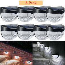 Pacote com 8 lâmpadas de LED abastecida com energia Solar Jardim Muro cerca Luzes Luz Lâmpada De Segurança Ao Ar Livre pátio