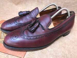 Alden 553 Longwing Tassel Loafer Shoes 10.5 A/C Burgundy Calfskin Wingtip