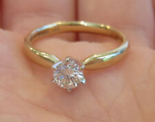 14K BRILLIANT CUT ROUND DIAMOND SOLITAIRE ENGAGEMENT WEDDING 6 PRONG RING LOVE