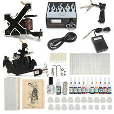 Complet Kit de Tatouage 2 Rotary Machine à Tatouer 10 Encres Pigment Tattoo Prof