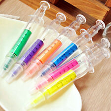 4pcs Syringe Injection Shaped BallPen Doctor Nurse Gift Liquid Pen Ballpoint New